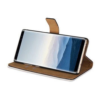 Samsung Galaxy Note 8 Leather Wallet Case Brown