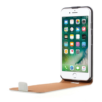 iPhone 8 Leather Flip Case Cover White