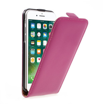 iPhone 8 Leather Case Hot Pink