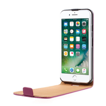 iPhone 8 Leather Case Cover Hot Pink