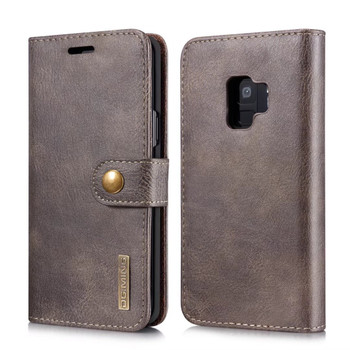 Samsung Galaxy S9 Magnetic Removable Case+Wallet Wood Brown