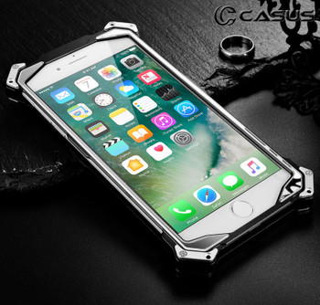 iPhone 8 Aluminum Steel Armor Bumper Case