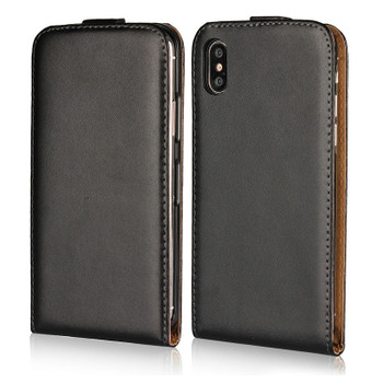 iPhone X Leather Flip Case