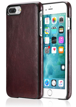 "iPhone 8+""Plus"" Real Leather Back Cover Cherry"