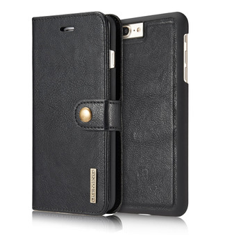 "iPhone 8+""Plus"" Leather Wallet Black With Magnetic Case"
