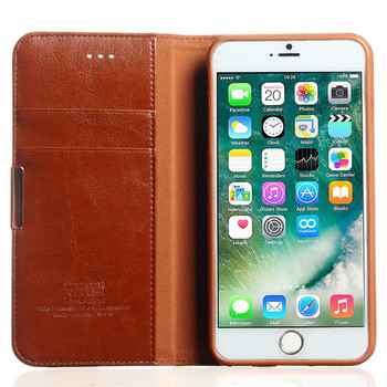 "iPhone 8+""Plus"" Premium Leather Wallet Case Tan"
