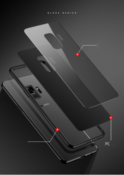 Samsung Galaxy S9 Bumper Case+Tempered Glass Back
