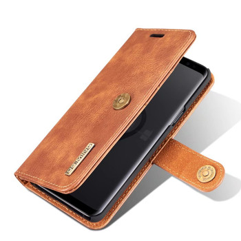 """Samsung Galaxy S9+""""Plus"""" Leather Wallet Case & Back Cover Brown"""