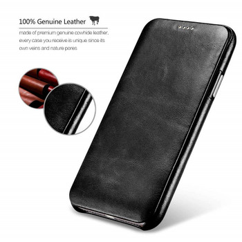 iPhone X/10 Real Leather Curved Edge Case Cover