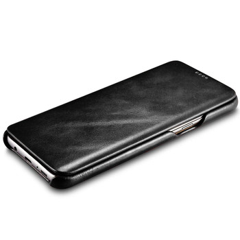 Samsung Galaxy S8 Cowhide Leather Curved Case Cover
