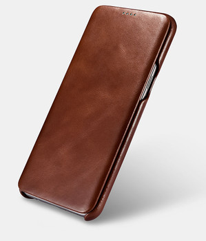 Samsung Galaxy S8 Cowhide Leather Curved Case Brown