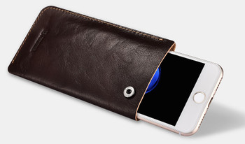 """iPhone 8+""""Plus"""" Genuine Leather Pouch Sleeve Case"""