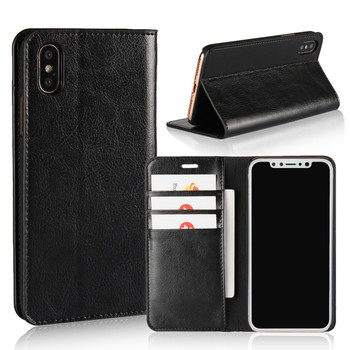 iPhone Xs Real Leather Case