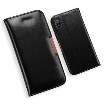 iPhone XS Premium Leather Case Black