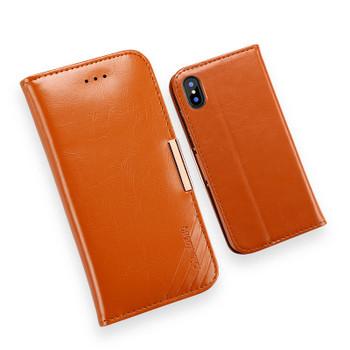 iPhone XS Premium Leather Case Light Brown