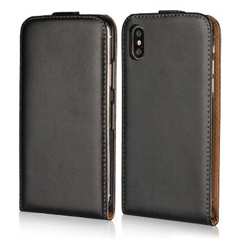 iPhone Xs Leather Flip Case