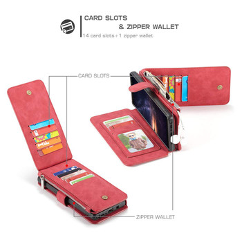 Samsung Galaxy Note 9 Leather Card Wallet Magnetic Case Red