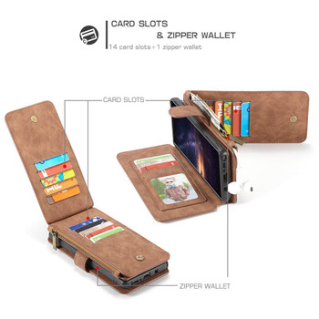 Samsung Galaxy Note 9 Leather Card Wallet Magnetic Case Brown