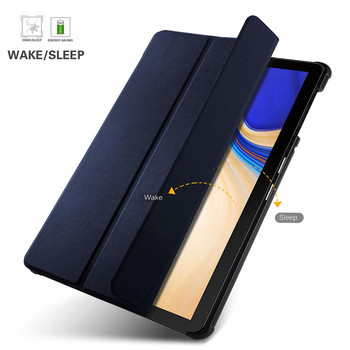 Samsung Galaxy Tab S4 Case Blue with Pen Holder