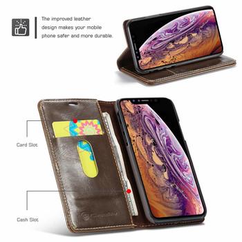 iPhone XS MAX Folio Wallet Case Brown