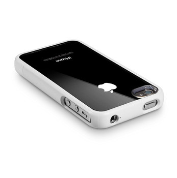 iPhone 4S 4 Clear Back Bumper Case White