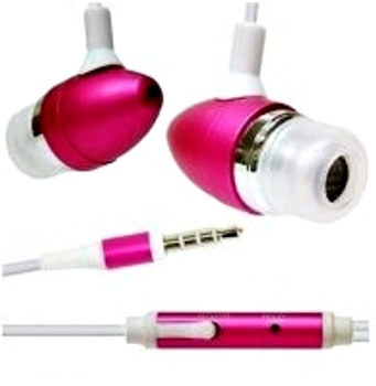 Pink Metal Earphones for iPhone 5S 4S Skype MP3 MP4