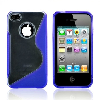 iPhone 4S 4 Side Grip Case Blue