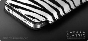 More iPhone 4S 4 Safara Classic Pouch Zebra Black