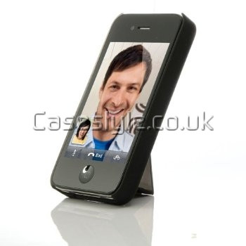 iPhone 4S 4 Dual Kickstand Case Black