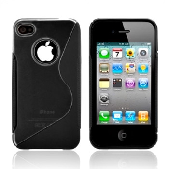 iPhone 4S 4 Wave Grip Case Black