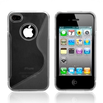iPhone 4S 4 Curve Grip Case Grey