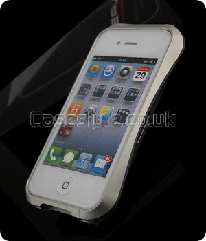 Deff Cleave iPhone 4S 4 Metal Bumper Case Silver