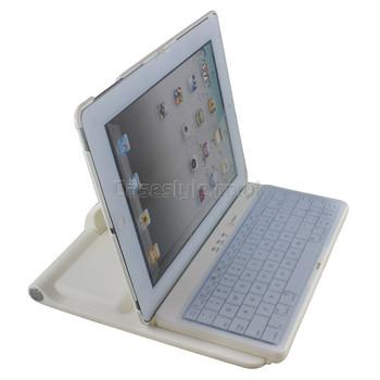 iPad 5+4+3+2 Rotating Bluetooth Keyboard Case White