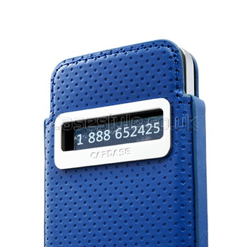 Capdase iPhone 4S 4 Smart Pocket Callid Dot Pouch Blue