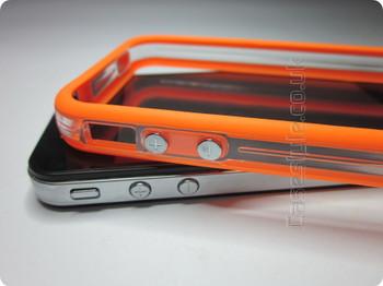 iPhone 4S 4 Bumper Orange Clear