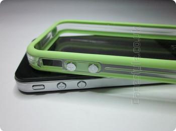 iPhone 4S 4 Bumper Green Clear