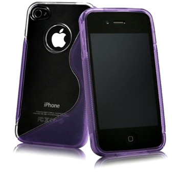 iPhone 4S 4 Side Grip Hard Case Purple