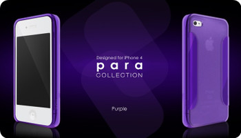 More iPhone 4S 4 Para Collection Case Purple