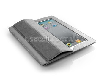 iPad 4 3 2 Executive Leather Smart Cover Grey