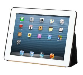 iPad 4+3+2 Premium Leatherette Smart Cover Case Black
