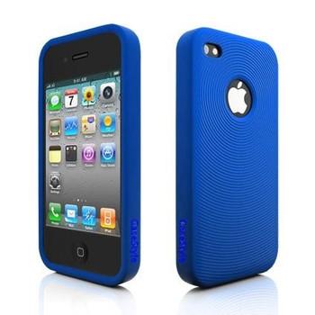 iPhone 4S Swirl Circle Silicone Skin Blue