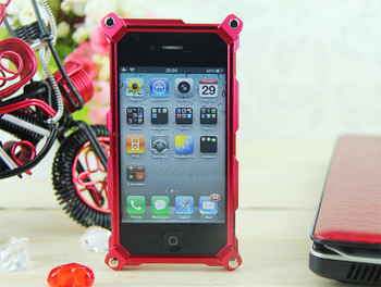 Factron iPhone 4S 4 Aluminum Back Case Red