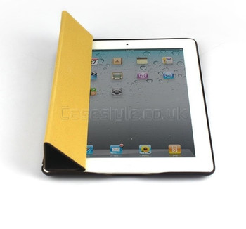 iPad 2 Premium Leatherette Smart Cover Case Brown