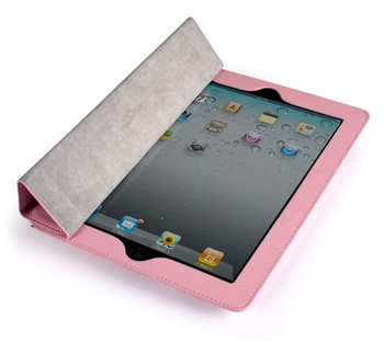 iPad 4+3+2 Executive Leatherette Smart Cover Pink