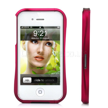 Deff Cleave iPhone 4S 4 Metal Bumper Case Red