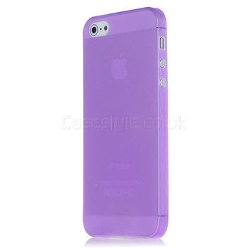 iPhone 5 5S Ultra Thin Frost Back Case Purple