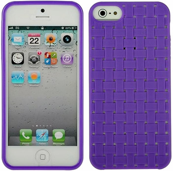 iPhone 5 Purple Skin Woven Back