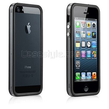 iPhone 5 5S Bumper Black with Metal Buttons