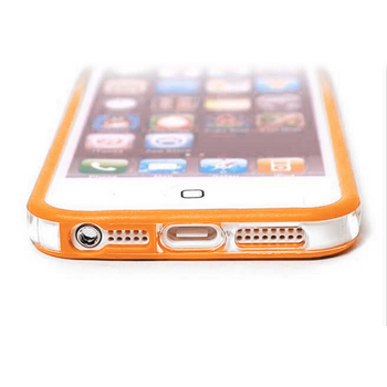 iPhone 5 5S Bumper Orange with Metal Buttons