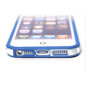 iPhone 5 5S Bumper Blue with Metal Buttons